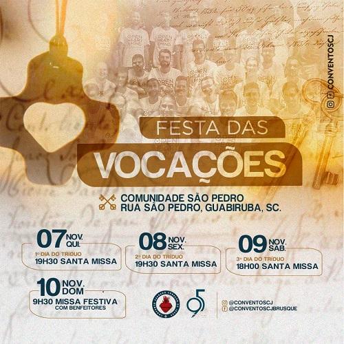 PROGRAMAÇÃO DA FESTA DAS VOCAÇÕES 2019 | CONVENTO SCJ