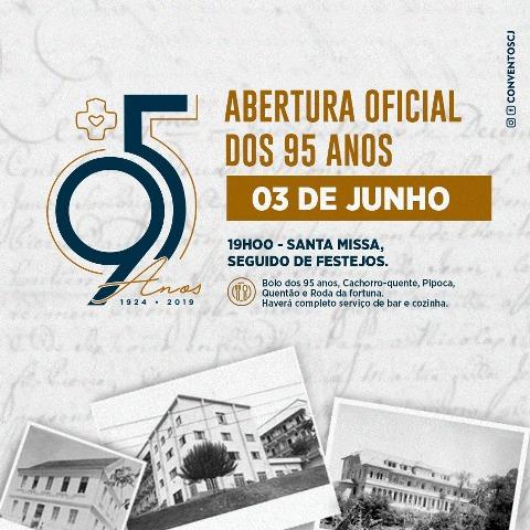 CONVENTO SAGRADO CORAÇÃO DE JESUS DE BRUSQUE COMEMORA 95 ANOS